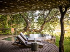 Singita Boulders - Private Terrasse mit Pool
